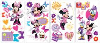 MINNIE MOUSE BOW TIQUE WALL STICKERS Bowtique Decals 034878128672