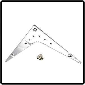 CHROME FLYING V GUITAR BRIDGE TAILPIECE FITS GIBSON ESP