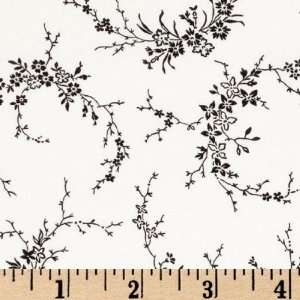 43 Wide Always & Forever Floral Branches White/Black
