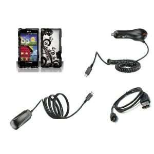 LG Lucid (Verizon) Premium Combo Pack   Black Wild Orchid