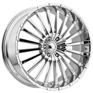 Panther Spline 22x8.5 Chrome Wheel / Rim 5x112 with a 35mm