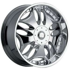 Panther Groove 24x10 Chrome Wheel / Rim 5x4.75 with a 15mm