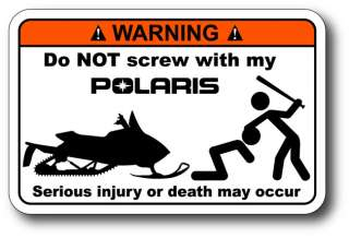 Do Not Screw Polaris Sticker Decal 600 IQ Shift Turbo
