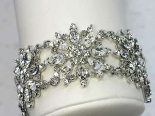 RHINESTONE CRYSTAL BRACELET 4 BRIDAL BRIDE BRIDESMAID WEDDING PARTY