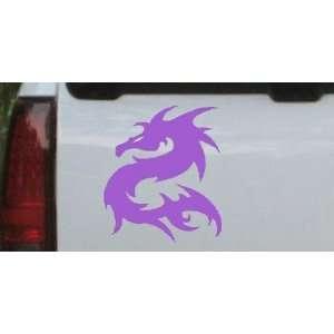 Purple 10in X 8.6in    Tribal Dragon Car Window Wall Laptop Decal