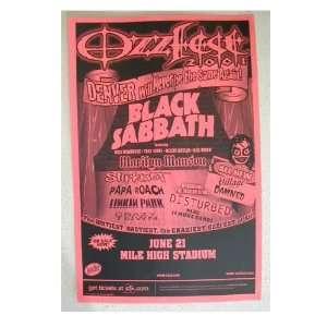 Black Sabbath Ozzy Osbourne Handbill Poster Ozzfest