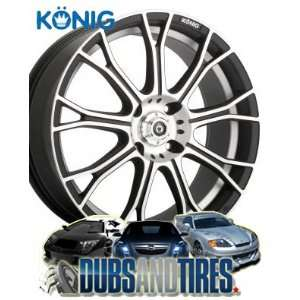 Konig Swurve Matt Black Machined Wheel (18x7.5/5x100mm