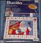 Bucilla CHRISTMAS ADVENT CALENDAR w Charms Counted Cross Stitch Kit