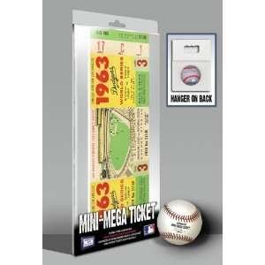 1963 World Series Mini Mega Ticket   Los Angeles Dodgers