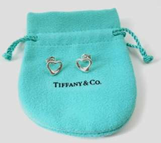 Tiffany & Co. ELSA PERETTI Sterling Silver OPEN HEART Earrings