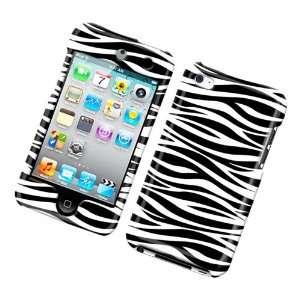 Cuffu iPod Touch 4 (4th Gen.) Black White Zebra designed case cover to