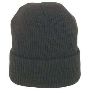 Black Wool Watch Cap (Army, Military, Police & Security
