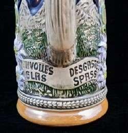 Vinage GERZI Hand Made German Lidded 1/2 L Beer Sein S2  