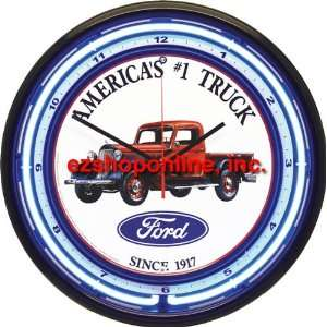 Genuine Classic 16 Tin Plate Ford Americas #1 Truck Neon