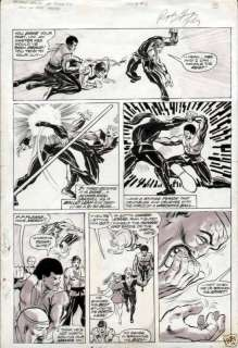 GEORGE PEREZ 1974 DEADLY HANDS OF KUNG FU #6 EARLY ORIGINAL ART PAGE