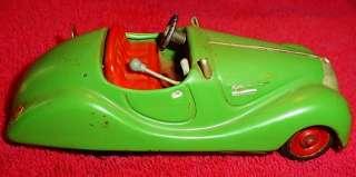 1938 44 Schuco Examico 4001 Tin Car with Key Pre War Wind Up Antique