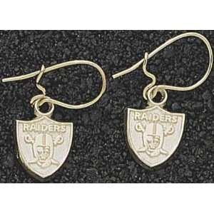 Oakland Raiders Logo Gold Dangle Earrings: Sports