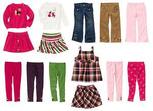 GYMBOREE PUPS AND & KISSES BIG KID GIRL FALL CLOTHES TOPS PANTS JEANS