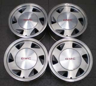 5029 GMC SONOMA S15 JIMMY 4X2 15 FACTORY OE ALLOY WHEELS RIMS (4