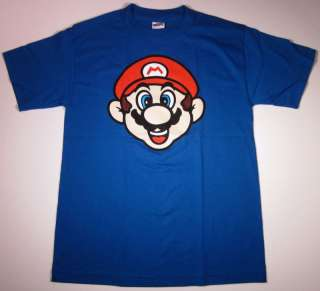 Nintendo Super Mario Bros. T shirt New Adult Tee Blue