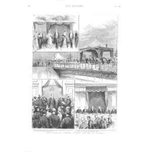 Prince Albert Visits Belfast Antique Print 18:  Home