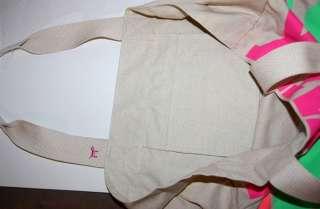 Victorias Secret PINK Dog Cotton Canvas XL Tote Bag NEW