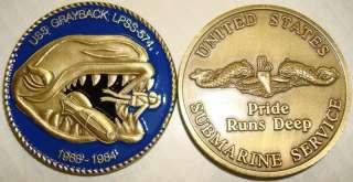 NAVY USS GRAYBACK LPSS 574 SUBMARINE CHALLENGE COIN