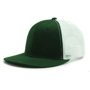 Forest Green & White 6 Panel Mesh Trucker Adjustable Baseball Cap Hat
