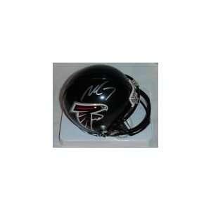 Michael Vick Hand Signed Falcons Mini Helmet Sports
