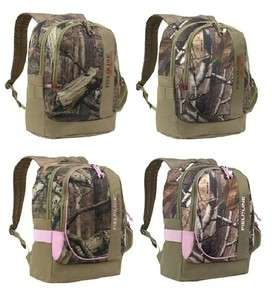 Realtree Mossy Oak Camo Pink Water resistant School bacpack Day Pack w