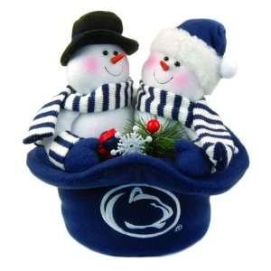 12 NCAA Penn State Nittany Lions Plush Snowmen Top Hat