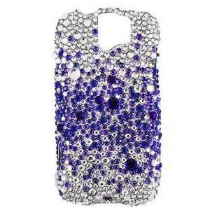 HTC MYTOUCH SLIDE FULL DIAMOND PROTECTOR CASE   PURPLE