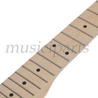 2pcs high quality Maple Guitar Neck 22 Fret Full Fretjob W/nut for