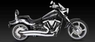 06 11 Yamaha Raider Vance & Hines Big Radius 2 2 Full Exhaust w/ Power