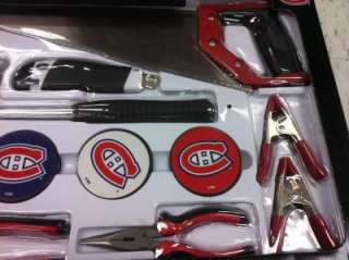 NHL 130 PIECE GENERAL TOOL KIT MONTREAL CANADIENS carrying bag