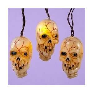 Musical Halloween LED Skull String Lights, Battery