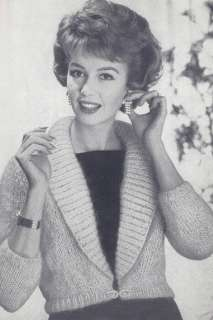 Vintage Knitting PATTERN Mohair Shorty Jacket Sweater
