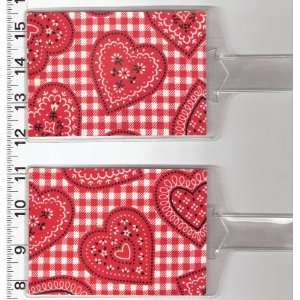 of 2 Luggage Tags Made with Red Heart Bandana Fabric