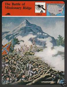 E BATTLE OF MISSIONARY RIDGE Tn. Civil War Story Card |