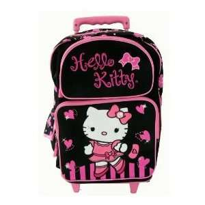 Hello Kitty Large Rolling Backpack / Luggage / Black