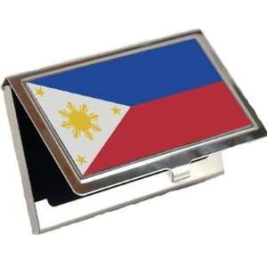 Philippines Flag Business Card Holder