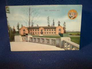 1909 Seattle Worlds Fair. Scene of Machinery Hall. Postmarked from the