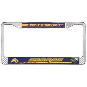 SABRES NHL Hockey Metal Auto LICENSE PLATE FRAME New Gift Sports