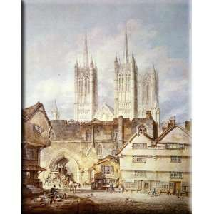 at Lincoln 13x16 Streched Canvas Art by Turner, Joseph Mallord William
