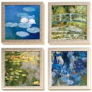 Claude Monet Water Lilies Art Block Framed Print Set