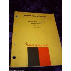Holland 995 Combine Series 1968 OEM Parts Manual (4 68): New Holland