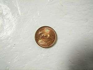 Vintage Token Moon Money Green Cheese Penny
