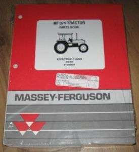 Massey Ferguson MF 375 MF375 Tractor Parts Book
