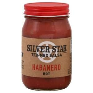 Silverstar, Salsa Habanero Hot, 16 OZ (Pack of 6) Health