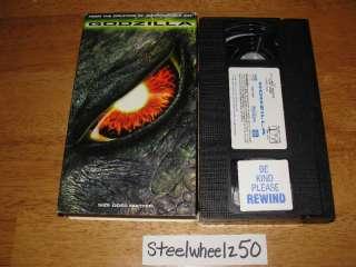 Godzilla VHS 1998 Matthew Broderick Jean Reno Tri Star 043396231238